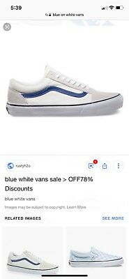 cd5a8a6f90b Vans Old Skool Canvas True Blue White Athletic Men s Size 6 Women s 7.5 New  Wob