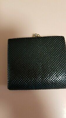 Black Glomesh purse wallet in excellent used condition.