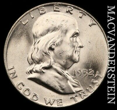 1952-D Franklin Half Dollar - Full Bell Lines - Brilliant Uncirculated!!  #e5297