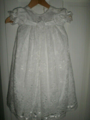 Christening Gown White Lace Edwardian Style 6-12 M