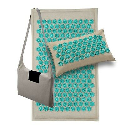 Lotus Acupressure Mat and Bag, Pillow or Set - Natural Eco Friendly