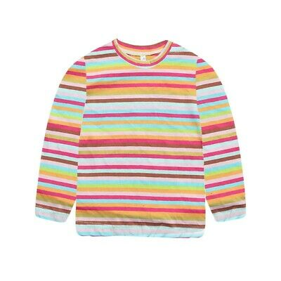 Rainbow Toddler Kids Baby Girl Boy Casual Long Sleeve Striped Shirt Tops Blouse