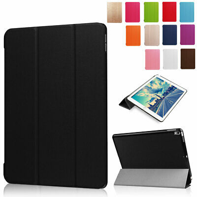 For Apple iPad 9.7 2018 5th 6th Gen Smart Flip PU Leather Hard Stand Case Cover
