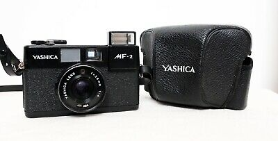 Vintage YASHICA MF-2 35mm film point and shoot compact camera lomo retro