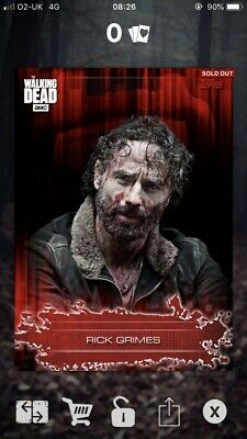 Rick Grimes - Bloodied Up - 25cc - Topps The Walking Dead Card Trader * RARE *