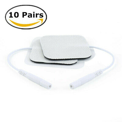 10 Pairs Replacement for Massager Tens Units Electrode Pads Therapy Machine UK