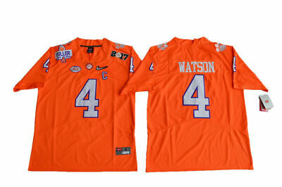 low priced 324f5 a0c8d NEW DESHAUN WATSON #4 Clemson Tigers College Sewn Football Jersey Orange