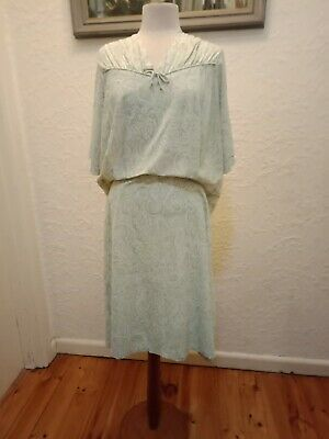 Original Vintage 1940s - 1950s Day Dress XXL 18++