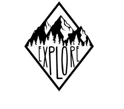 Explore Mountain For Auto Car/Window Vinyl Decal Sticker Decals Decor CT041