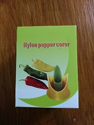 2 in 1 Set Nylon Pepper Corer Remover Vegetable Kitchen Cooking Tool Capsicum AU