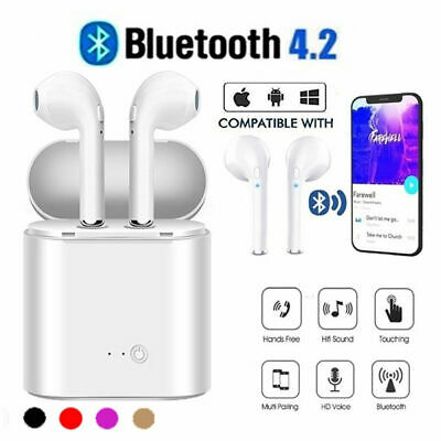 I7s TWS True Earbuds Bluetooth 4.2 Earphone StereoHeadset with Charger Box Hot