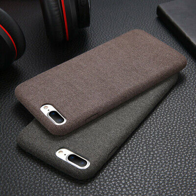 For iPhone X 6s 7 8 Plus XS Max Shockproof Cloth Texture Soft Phone Case Cover