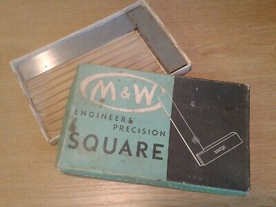"Moore & Wright Engineers Square No 400 5"" Blade with original box"
