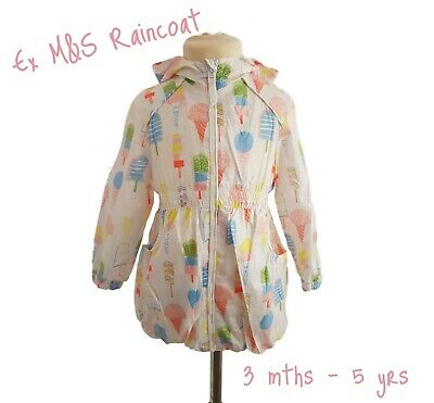 Girls Baby Summer Coat Lightweight Jacket Raincoat Hood Anorak Mac Cagoule