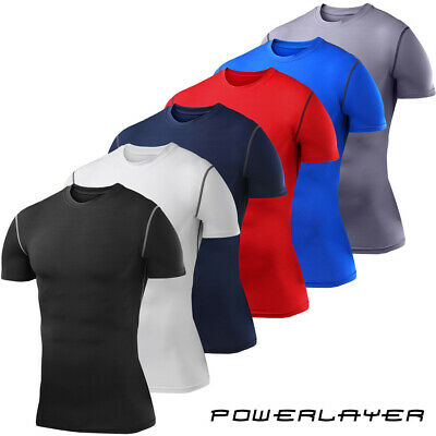 PowerLayer Mens & Boys Body Armour Base Layer Compression Top Short Sleeve
