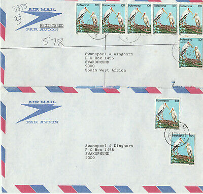 4 covers from Botswana to South West Africa, also registered mail