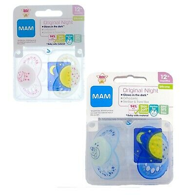 MAM Night Soother Twin Pack - 12m+ CHOICE OF DESIGN (A144)