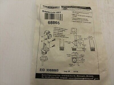 Banner Smbqs18Y Mounting Bracket Die-Cast For Mounting Into 18Mm Hole Nib