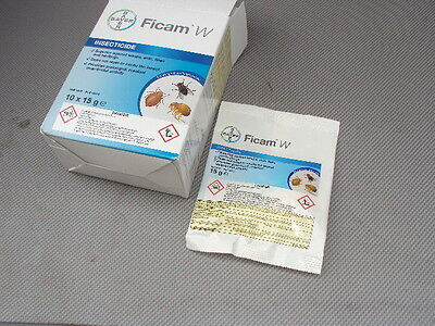BAYER Ficam W 2 x 15g INSECTICIDE MITE FLEA ANTS INSECTS BED BUGS *11.00 each