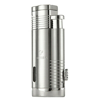 COHIBA Brand Stainless Steel Windproof Jet 3 Torch Flame Cigar Cigarette Lighter