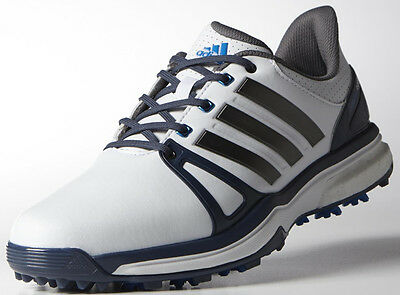 8674ad1cda44 Adidas Mens adiPower Boost 2 Golf Shoe Q44661 Size 9 Medium White Blue