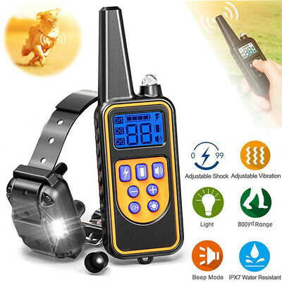 Waterproof Remote 1000 Yard Dog Shock Collar Electric LCD Pet Training No Bark