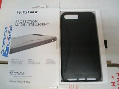 another chance 2a83d 6140a TECH21 EVO TACTICAL Iphone 7/8 Plus Case Ultra Thin Black Lightweight New