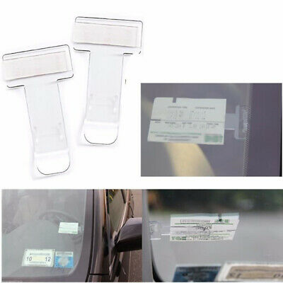 6X Car Vehicle Parking Ticket Permit Clip Sticker Holder Windscreen Window