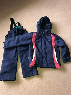 Girls Mountain Warehouse Ski Suit, Navy/ Pink Ski Jacket & Ski Trousers, Age 4-5