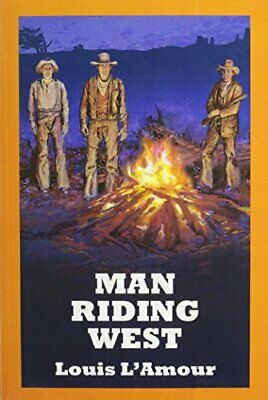 Man Riding West by L'Amour, Louis Book The Cheap Fast Free Post