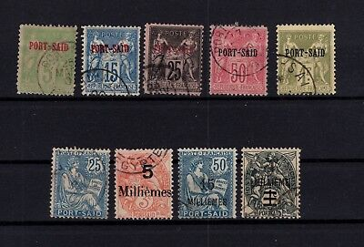 Bp95766 / French Post Offices In Port Said / Lot 1899 - 1925 Used 110 €
