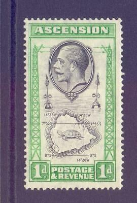 ASCENSION 1934 KGV SG22a 1d with TEARDROPS FLAW Fine MINT Cat £150