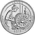 Lowell National Historical Park 2019 Rolls (D) 40 coin