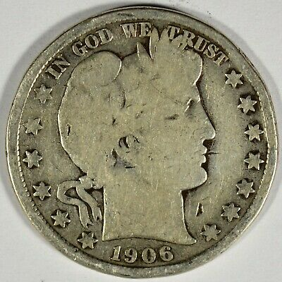 1906-D Collectible Silver Barber Half-Dollar (b542.37)
