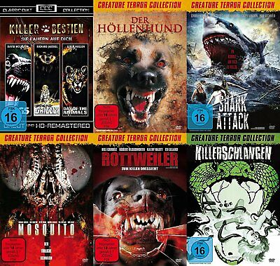8 Animal Horror Cult Movies Grizzly Rottweiler Sark #Attack Killerschlangen
