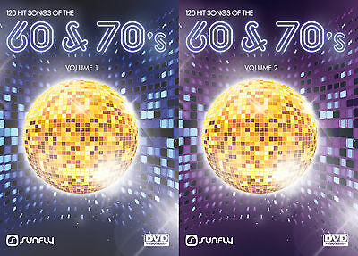 Hits From The 60'S And 70'S Vol 1+2 Sunfly Karaoke Dvd - 240 Hit Songs