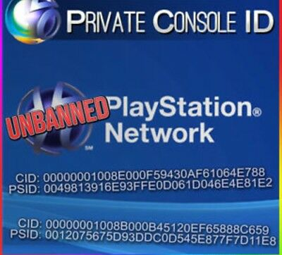 Ps3 Cid+Psid 100% Private.immediate Reply W/ Your Cid And Psid 2 Days Warranty.