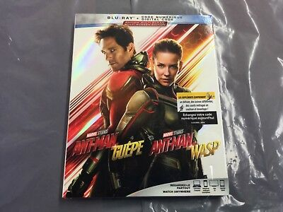 Marvel Ant-Man  The Wasp  ( Blu-Ray + Digital  Code ) Brand New Sealed