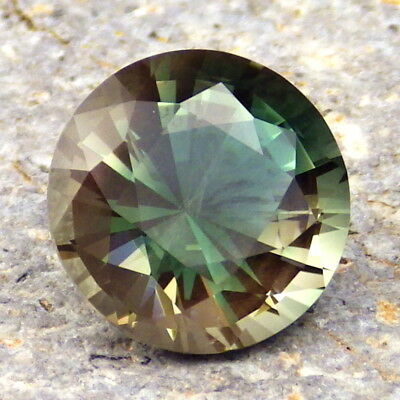 Paon Vert Bleu Dichroïque Neige Oregon Sunstone 3,98ct Flawless-Rare-Video