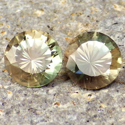 Vert Dichroïque Oregon Sunstone 4.16ct Tw Flawless-Jewelry Pair-For