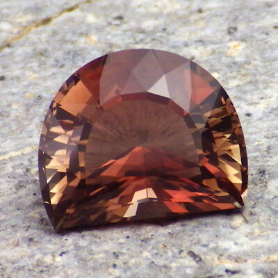 RASPBERRY RED DICHROIC OREGON SUNSTONE 5.94Ct FLAWLESS-RARE NATURAL COLOR-VIDEO