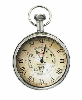 G518: Maritime Pocket Watch with Two Time Information, Titanic Watch,Marine