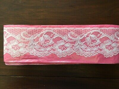 Lot Of Approx. 16 Yards Of White Vintage Lace 2 1/2 Inch Wide New Old Stock