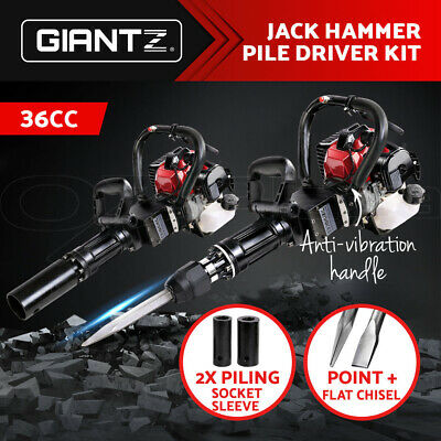 GIANTZ 2in1 Petrol 36cc Pile Post Driver+Jack hammer Star Demolition Jackhammer