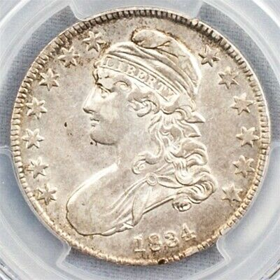 1834 Capped Bust Half Dollar, Overton O-116 - PCGS AU50 - Sm. Date/Sm. Letters