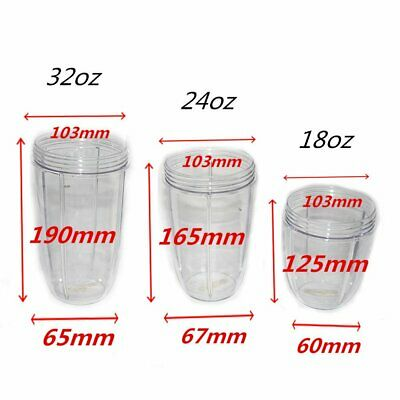 Mug Tall Cup For NutriBullet Blender Juicer Cup Mixer Accessory 18/24/32OZ DS