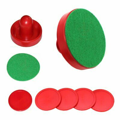 Sturdy Air Hockey 2 Pusher Handles 4 Red Pucks Christmas Holiday gifts toys DS