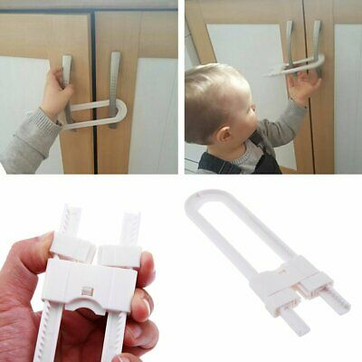 2/10Pcs Child Proof Secure Safety Catch Cupboard Lock Drawer Toy Box Door DS