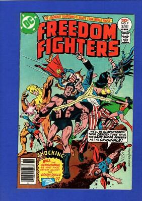 Freedom Fighters #7 Nm 9.4 High Grade Bronze Age Dc