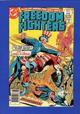 Freedom Fighters #8 Nm 9.4/9.6 High Grade Bronze Age Dc